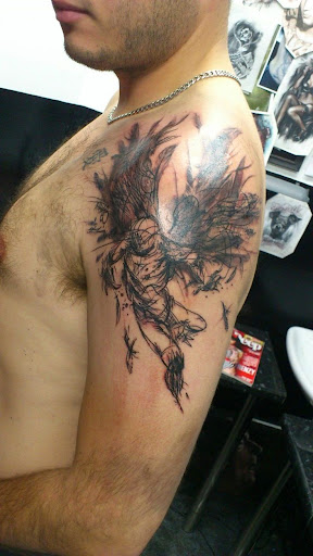 amazing angel tattoos on arm