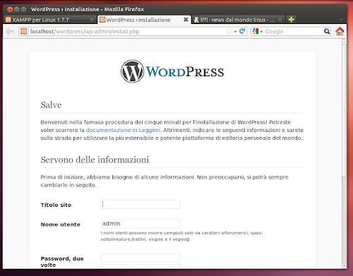 WordPress 3.5 su Ubuntu