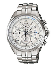 Jam Tangan Pria Formal Tali Stainless Silver Rose Gold Casio Edifice : EFR-304SG-7AV