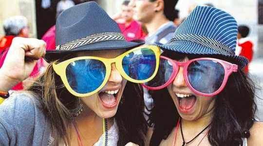 Gafas enormes para fiesta de cumpleaños