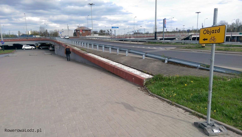 Tu kończy się dotychczasowa droga dla rowerów (po stronie północnej)