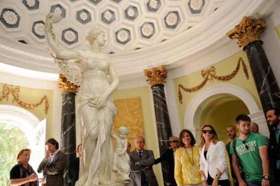 La réplica de la Venus de la Alameda y de La Exedra en el Jardín El Capricho