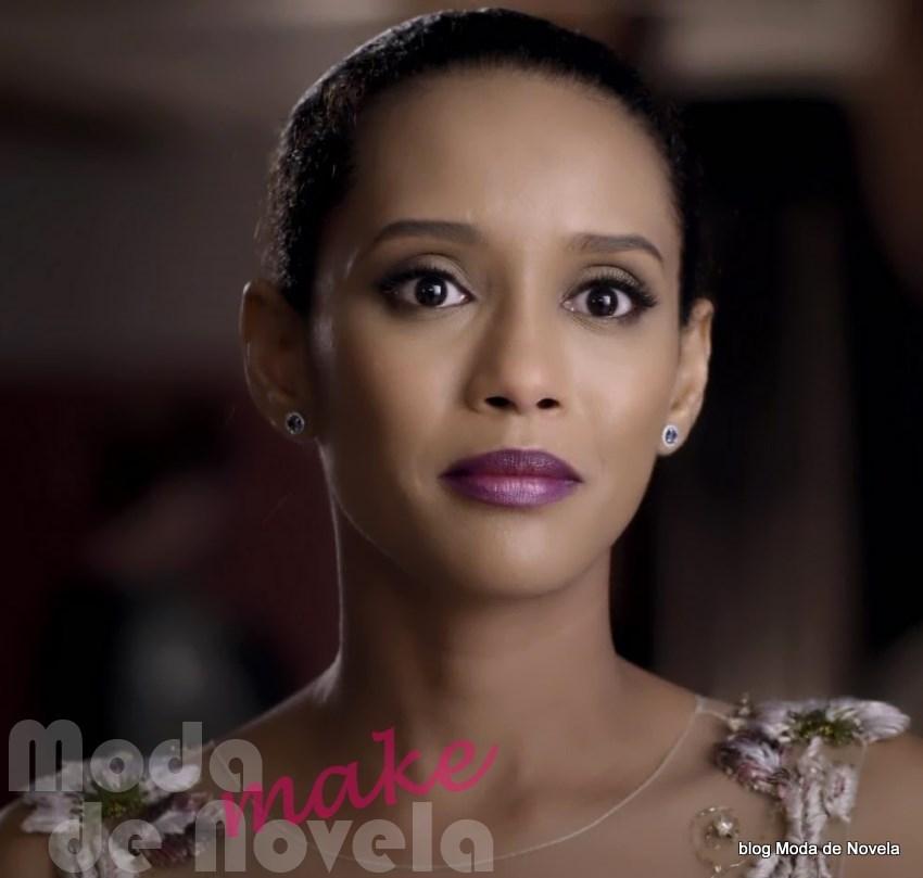 moda da novela Geração Brasil - maquiagem de festa da Verônica