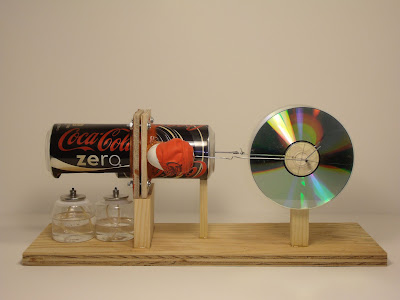 Horizontal Pop Can Stirling Engine