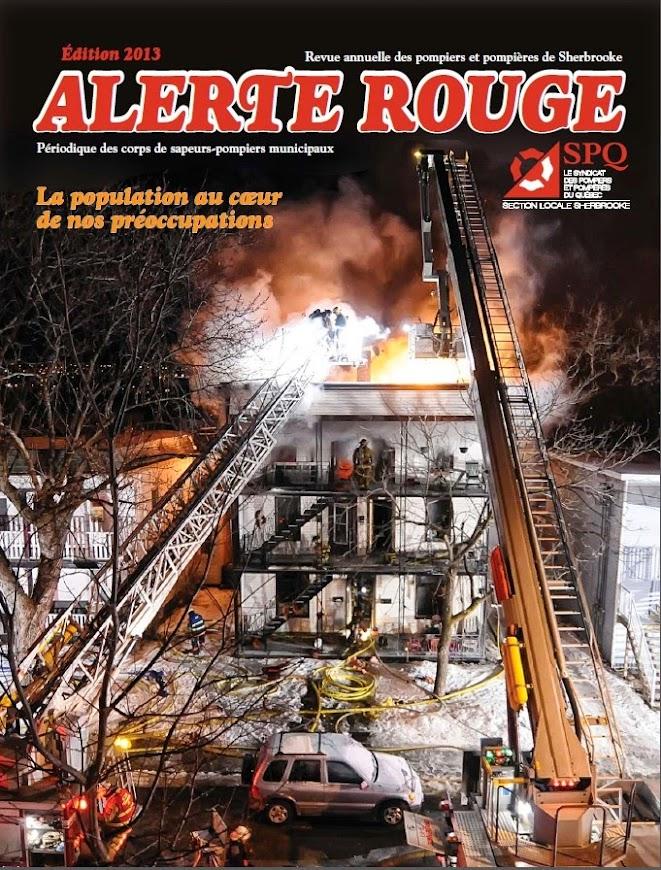 Revue Alerte Rouge Pompier de Sherbrooke, édition 2013