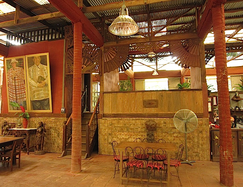 main dining room of Patis Tito Garden Café