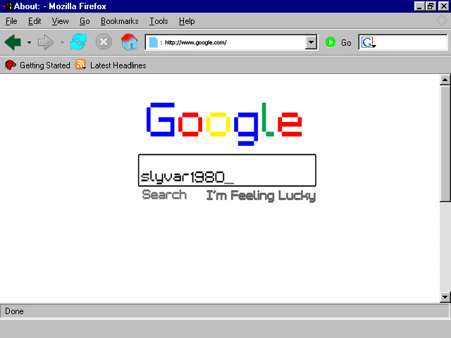google1980 on mozilla firefox 0 0 no such firefox it s my own