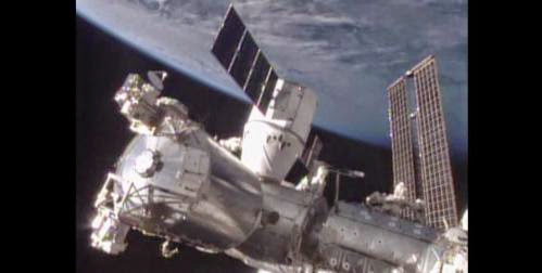 Dragon Spacecraft Arrives At Space Station