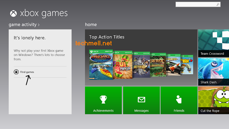 Xbox Games in Windows 8.1
