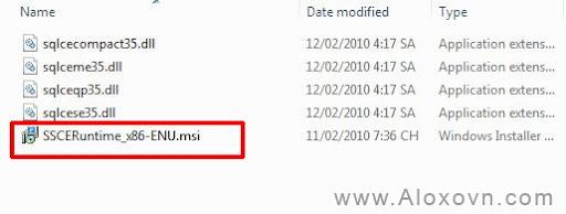 Cài đặt SQL Compact - bước 2
