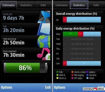 Nokia 5800 Apps : Nokia Battery Monitor