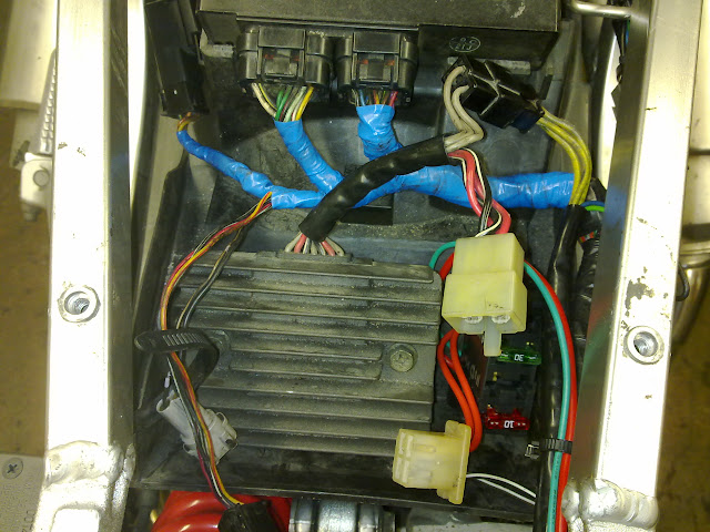 starter relay and wiring everything off of an auxiliary fuse box