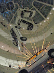 Inside the Guggenheim is a dramatic artistic rendering of a car bomb
