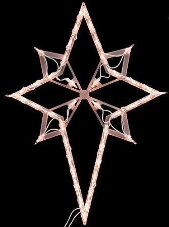 Window Christmas Decoration: 22-inch Lighted Star of Bethlehem Christmas Window Silhouette Decoration