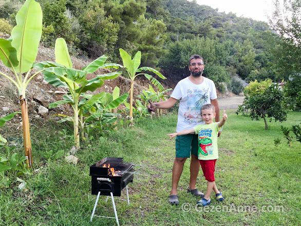 baba oğul mangal keyfi, Azra Villas Çıralı Antalya