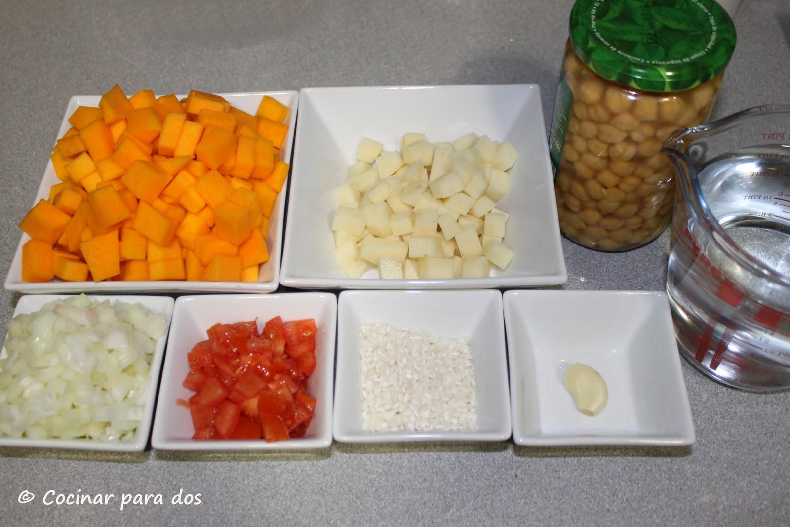 Potaje de calabaza y garbanzos cocinar para 2 for Cocinar alcachofas de bote