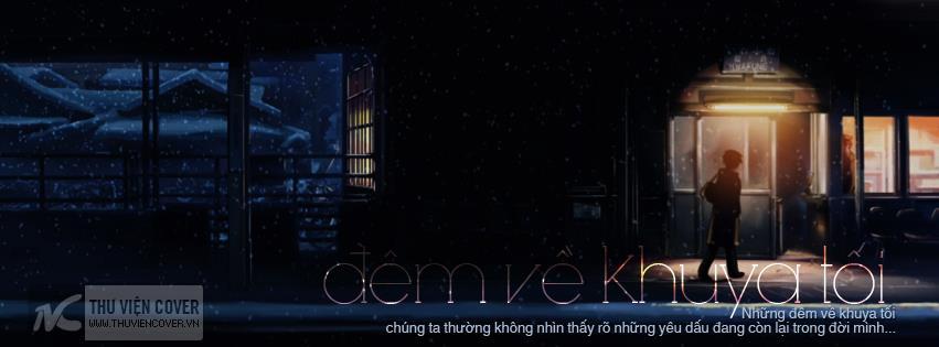 ảnh bìa facebook đêm khuya buồn bã