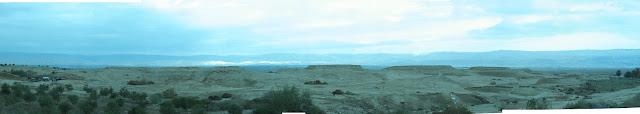 המבט מבית חגלה אל הר נבו שמעבר הירדן