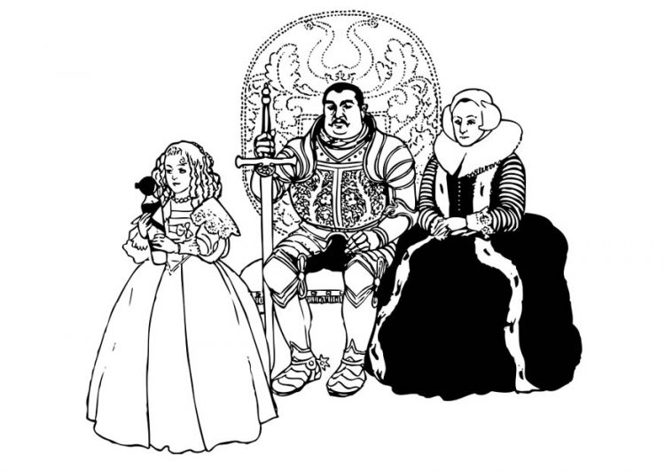 Feudal lord and his family coloring pages