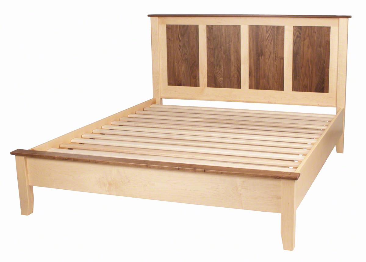 Shaker platform bed solid wood platform bed in the for How to build a wood platform