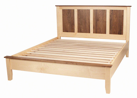 Bed Connections Shown on Shaker Style Platform Bed