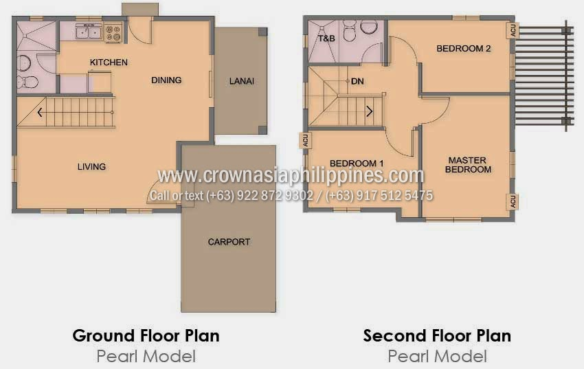 Floor Plan of Ponticelli - Pearl | House and Lot for Sale Daang Hari Bacoor Cavite