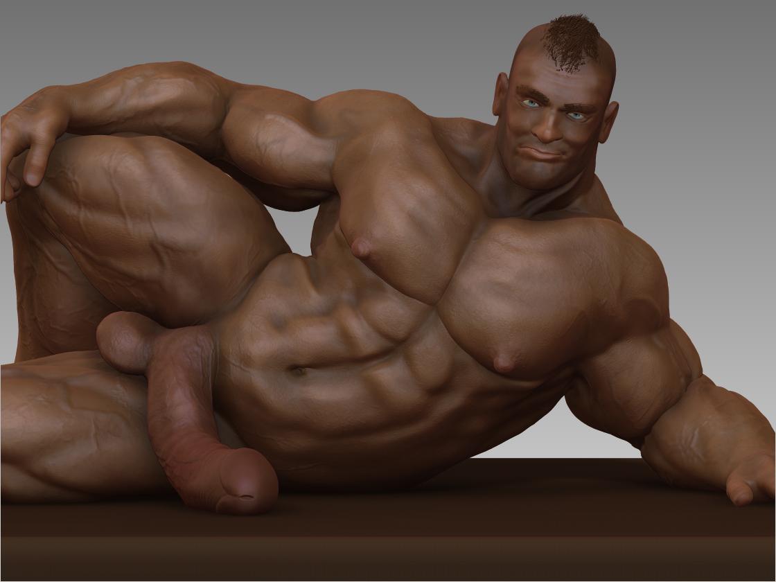 Body Lounger Digital Gay Erotic Art