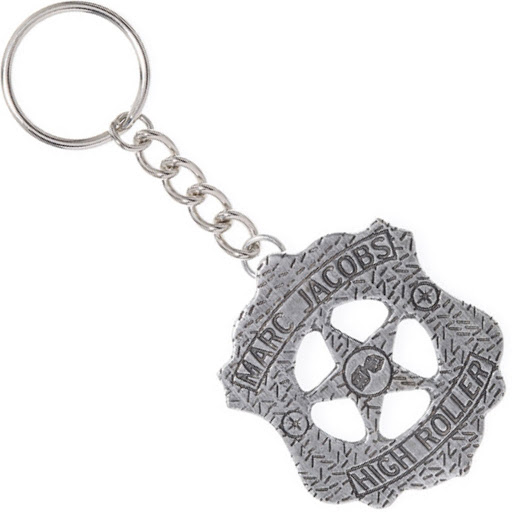 Marc by Marc Jacobs Vegas Badge Keychain Pewter High Roller