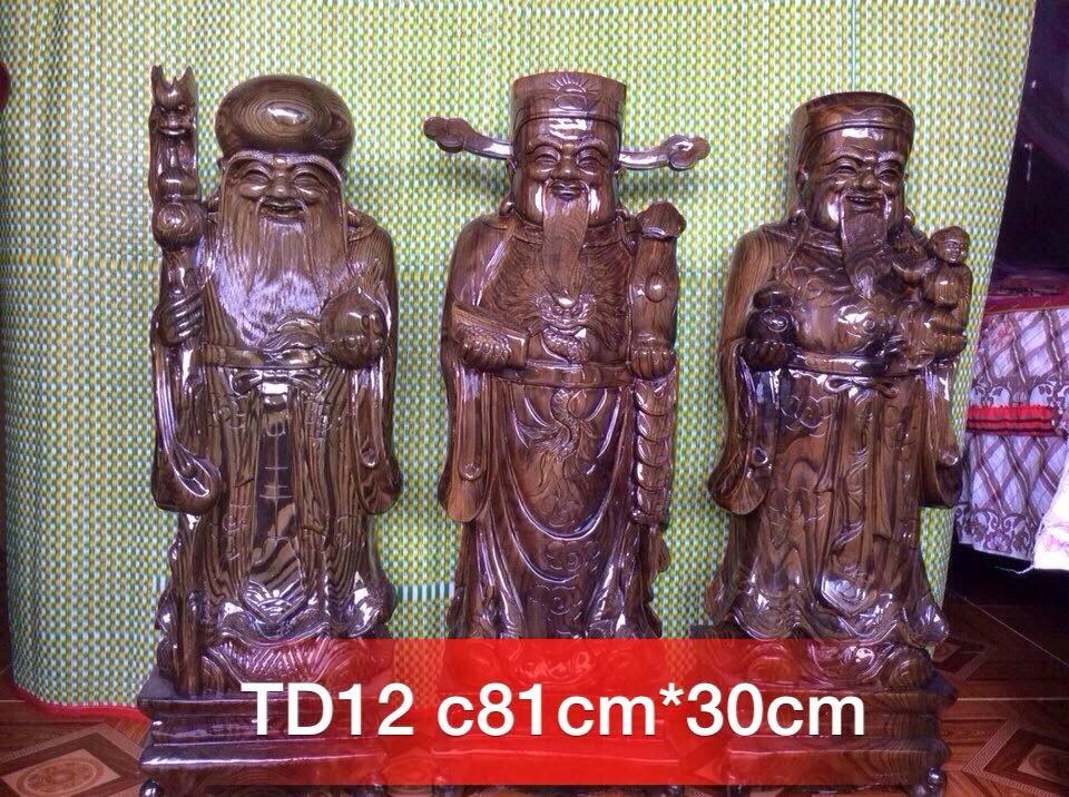 Tượng tam đa gỗ thủy tùng mẫu TD12
