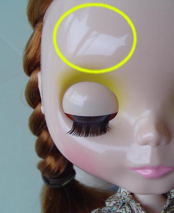 Reflexo de boneca blythe que será copiado