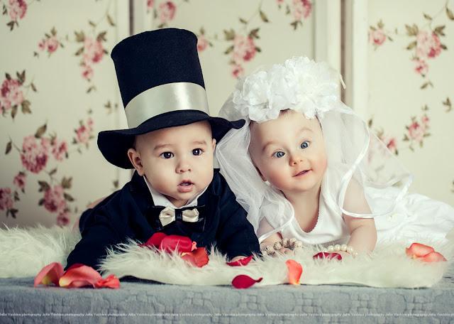 Прикольные картинки детей свадьба