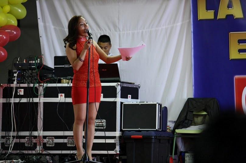 Durante una de las actuaciones en la Feria de las americas