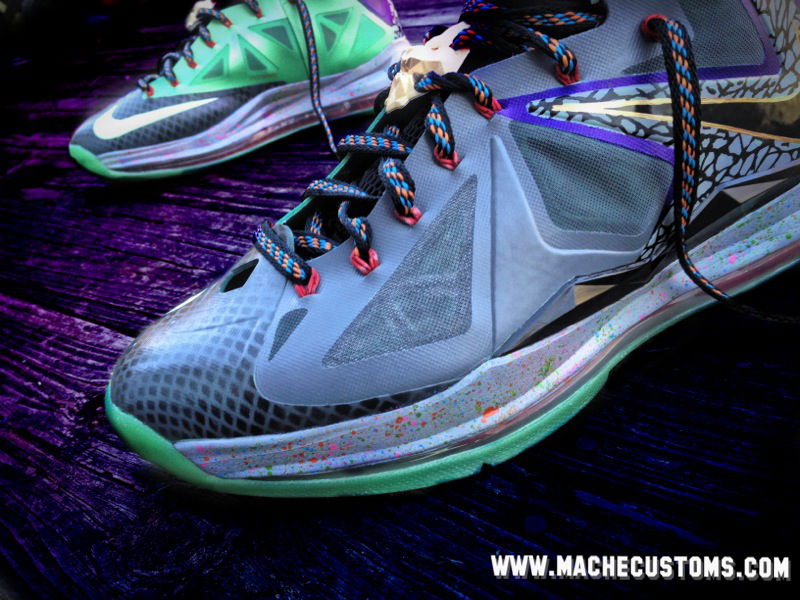 online store 29a9c 8c028 ... Galaxy Chamber of Fear amp Mita LeBron X Customs by Mache ...