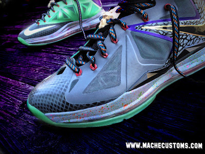 nike lebron 10 cs mache mita 1 02 Galaxy, Chamber of Fear & Mita LeBron X Customs by Mache