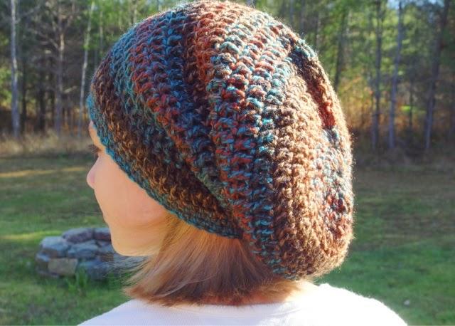 Yarn Me Silly Striped Bulky Slouch Hat Crochet Pattern By Yarn Me Silly