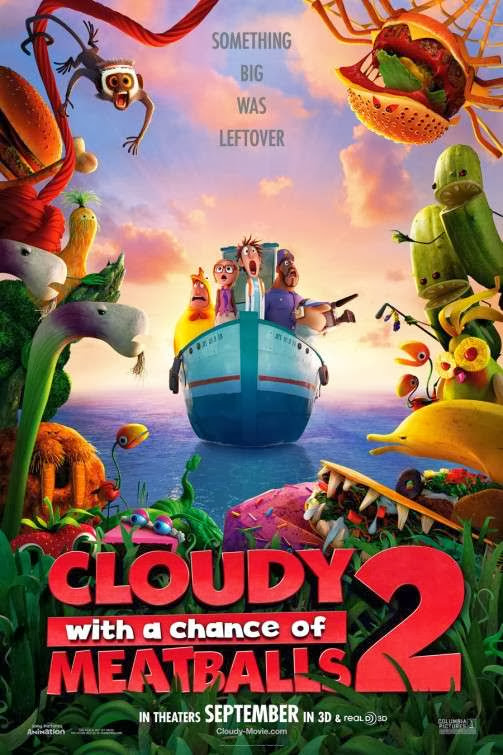 Poster Of English Movie Cloudy with a Chance of Meatballs 2 (2013) Free Download Full New Hollywood Movie Watch Online At Alldownloads4u.Com