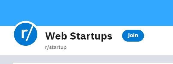 Image of Subreddit r/startup