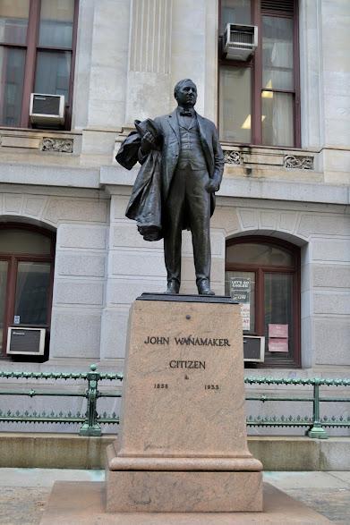 памятник Джону Уонамейкеру, Филадельфия, Пенсильвания (John Wanamaker statue, Philadelphia, PA)