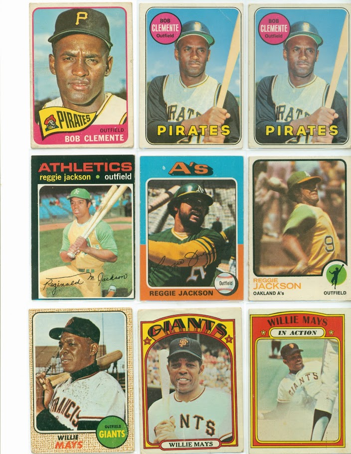 Lot Vintage Baseball Cards From 40s To 80s Hank Aaron