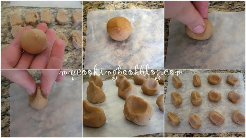 Бонбони от кестени с форма на кестени и шоколадов карамел