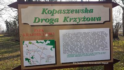 Na zdjęciu informacja i trasa Kopaszewskiej Drogi Krzyżowej