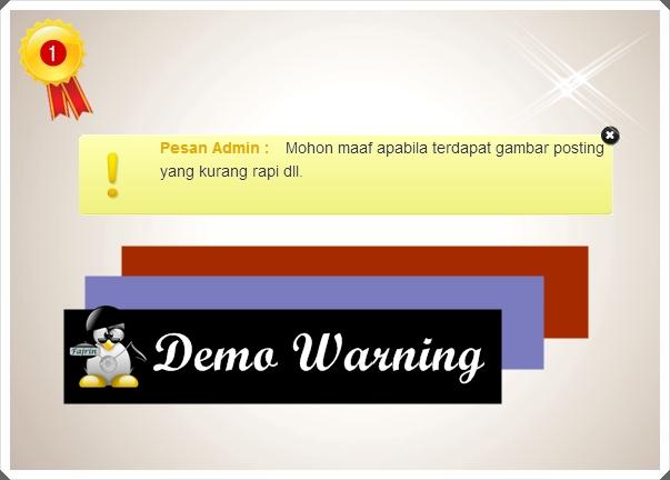 Membuat Pesan Warning Admin