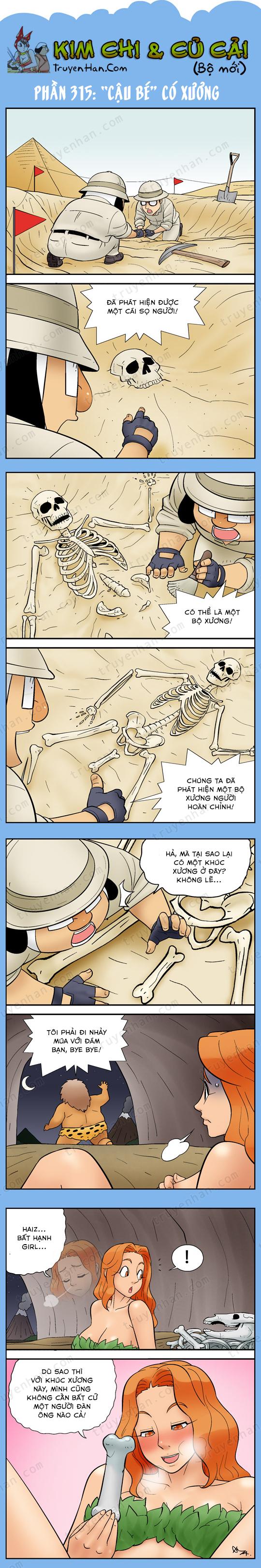 """Kim Chi & Củ Cải (bộ mới) phần 315: """"Cậu bé"""" có xương"""