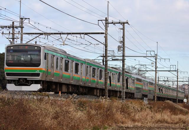 Tàu hỏa E231 Urban Train trong thực tế