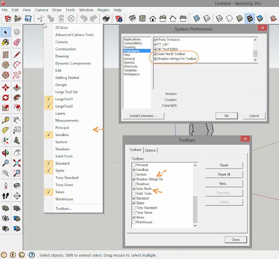 การติดตั้ง Extensions ให้กับ SketchUp 2013 และวิธีการแก้ปัญหาสำหรับ Extensions ที่ไม่ยอมทำงาน Su2013re31