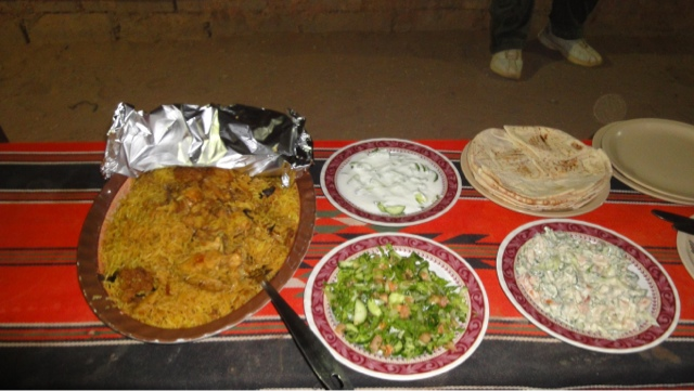 Maglob rice dish with sides