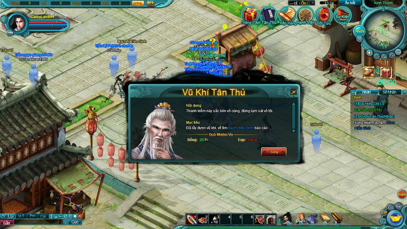 Hình ảnh thử nghiệm webgame Tiểu Lý Phi Đao - Ảnh 4