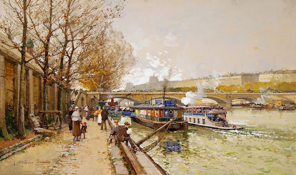 Eugène Galien-Laloue - Along the Seine River