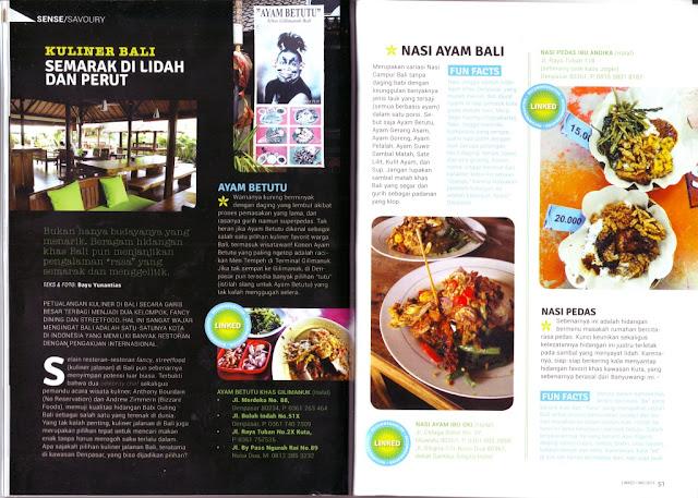 Kuliner Bali Semarak di Lidah dan Perut on Linked Citilink inflight Magazine - spread 1