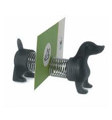 slinky dog business card holder